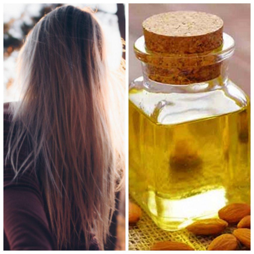 La vitamina E que posees el aceite de almendra ayuda a eliminar las Canas de raíz