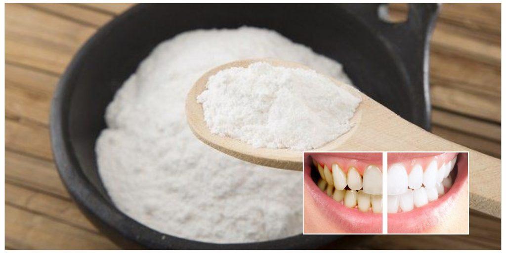 El bicarbonato, limpia, blanquea y elimina la placa dental y el sarro