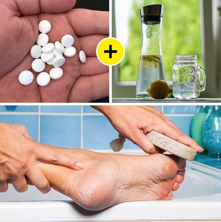 elimina los hongos las grietas y los callos con sólo aspirina y limón