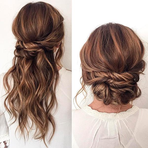 Peinado de novia para diferentes vestidos