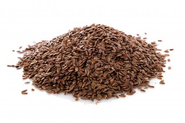 puñado de semillas de Lino