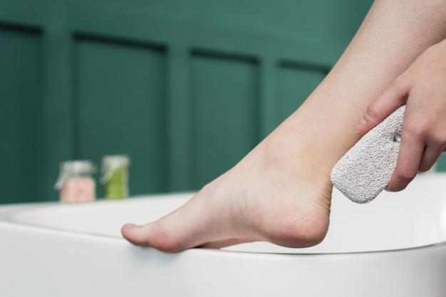 solución para pies resecos
