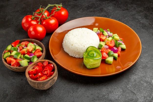 día 5 de la dieta de los 7 días solo arroz y tomates