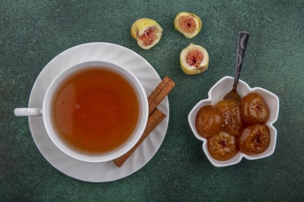 té de hojas de higo para combatir obesidad, diabetes entre otras